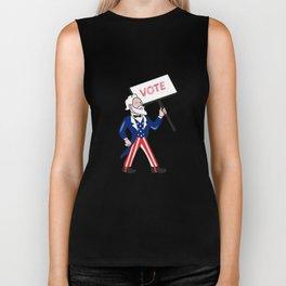 Uncle Sam Placard Vote Standing Cartoon Biker Tank