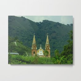 The Cathedral In The Mountain Range Metal Print