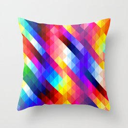 Colorful Mosaic Style Throw Pillow