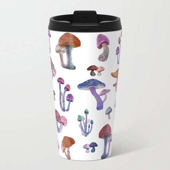 mushrooms Metal Travel Mug