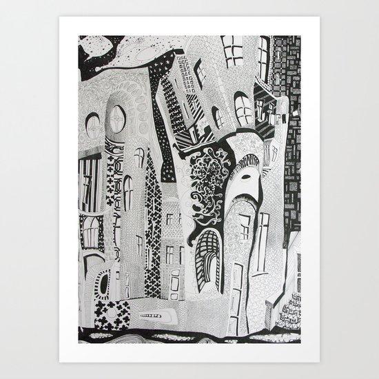 Sleepy kaleidoscope Art Print