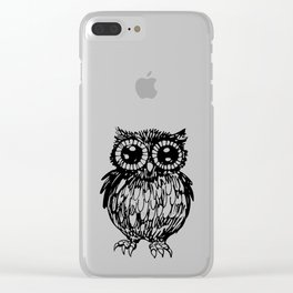 Halloween owl Clear iPhone Case
