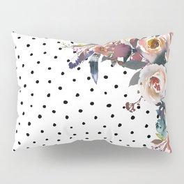 Boho Flowers and Polka Dots Pillow Sham