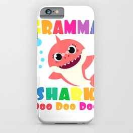 Gramma Shark Shirt Funny Mothers Day Gift For Womens Mom T-Shirt iPhone Case