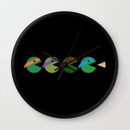 Pac-Turtles Wall Clock