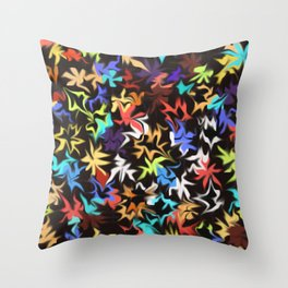 Splashes of Color Throw Pillow