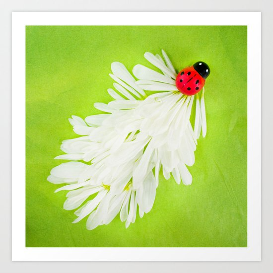 Ladybug Trail Art Print