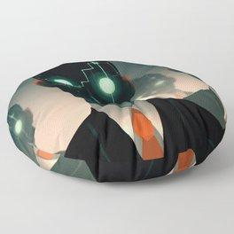 Microchip mind control Floor Pillow
