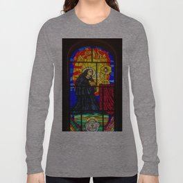 Stained Glass of the Cathedral Almudena Long Sleeve T-shirt