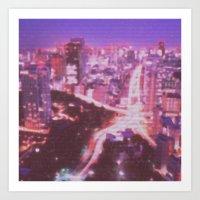 Glow City Art Print