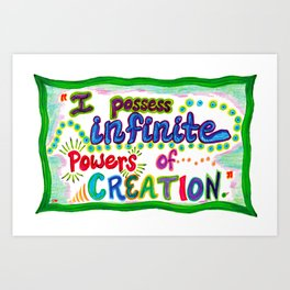 POWERS OF CREATION Art Print