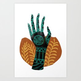 Goddess of the First Harvest Art Print