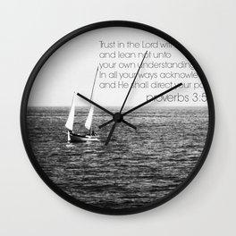Proverbs 3 Nautical Wall Clock