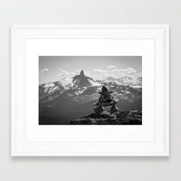 Black Tusk and the Inukshuk Framed Art Print
