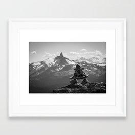 Black Tusk and the Inukshuk Framed Art Print