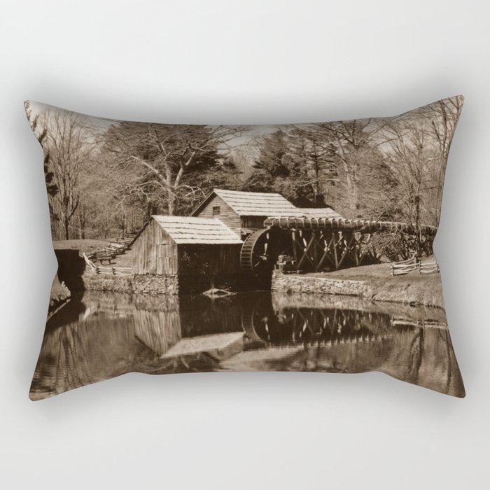 Mabry Mill (Sepia) Rectangular Pillow