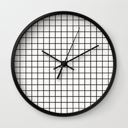 White & Black Grid Wall Clock