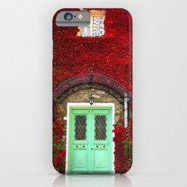 Red Ivy Doorway Photograph iPhone Case