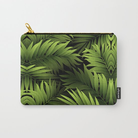 Tropical Frond Pattern Carry-All Pouch