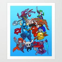 Indie Smash Bros Ultimate Art Print