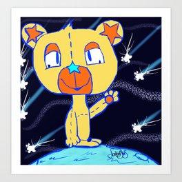 Little Bear On The Moon  Art Print