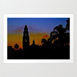 Balboa Park Sunset Art Print
