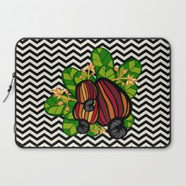 Black & White Chevron Cashew Laptop Sleeve