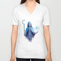 jack frost V-neck T-shirts featuring Jack Frost by franzkatter