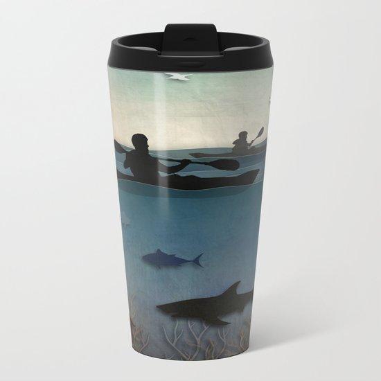 Sea Kayaking Metal Travel Mug