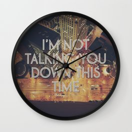 Falling Like Rain Wall Clock