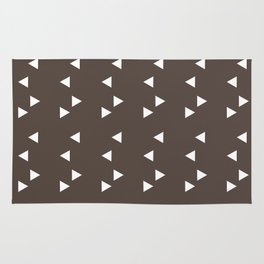 Cappuccino Brown Triangle Rug