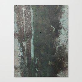 Copper Green Concrete Canvas Print