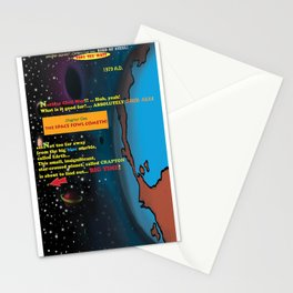 Bird of Steel Comix - Page #1 of 8 (Society 6 POP-ART COLLECTION SERIES)  Stationery Cards