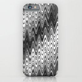 WAVY #2 (Grays & White) iPhone Case
