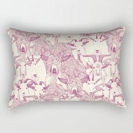 just goats cherry pearl Rectangular Pillow
