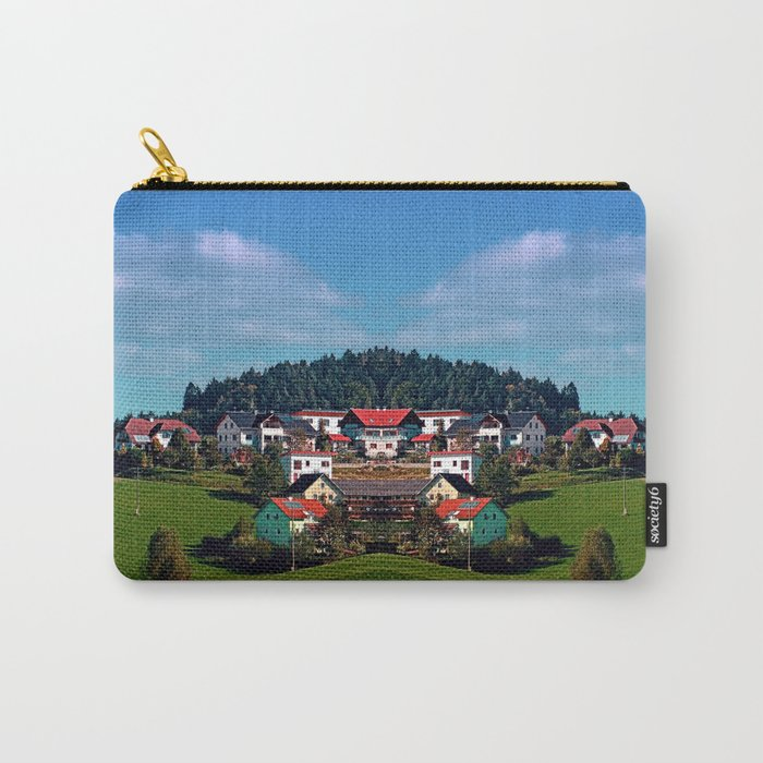 Rural hillside village panorama | landscape photography Carry-All Pouch