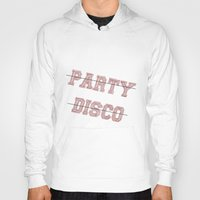 talking heads Hoodies featuring Talking Heads - No Party, No Disco by Taylor Starnes