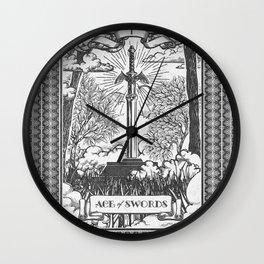 Legend of Zelda Master Sword Vintage Tarot Scene Wall Clock