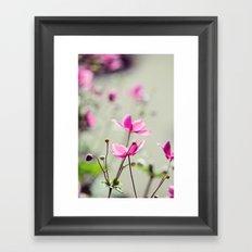 Pink Anemones Framed Art Print