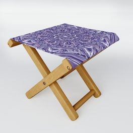 Great Purple Mandala Folding Stool