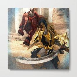 Knight - Beast Metal Print