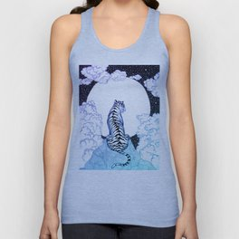 Ombre Tiger Moon Unisex Tank Top