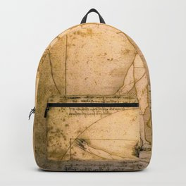 Vitruvian Man by Leonardo da Vinci Backpack
