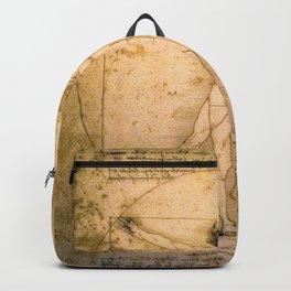 Vitruvian Man by Leonardo da Vinci Backpack