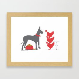 dane and chickens poster Framed Art Print