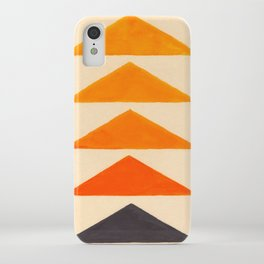 Vintage Scandinavian Orange Geometric Triangle Pattern iPhone Case