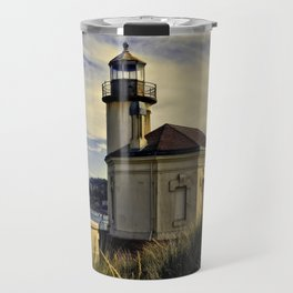 Oregon Coquille River Lighthouse - Watching The River Travel Mug
