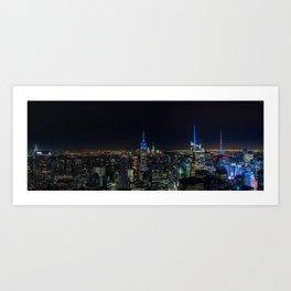 New York City -  Christmas Panorama Art Print
