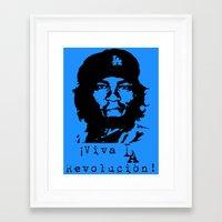 dodgers Framed Art Prints featuring Yasiel Puig - Viva LA Revolucion! by Adrian Mentus