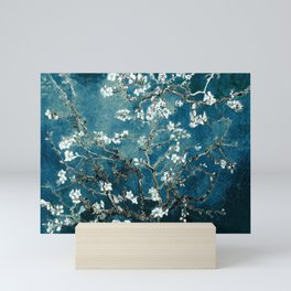Van Gogh Almond Blossoms : Dark Teal Mini Art Print